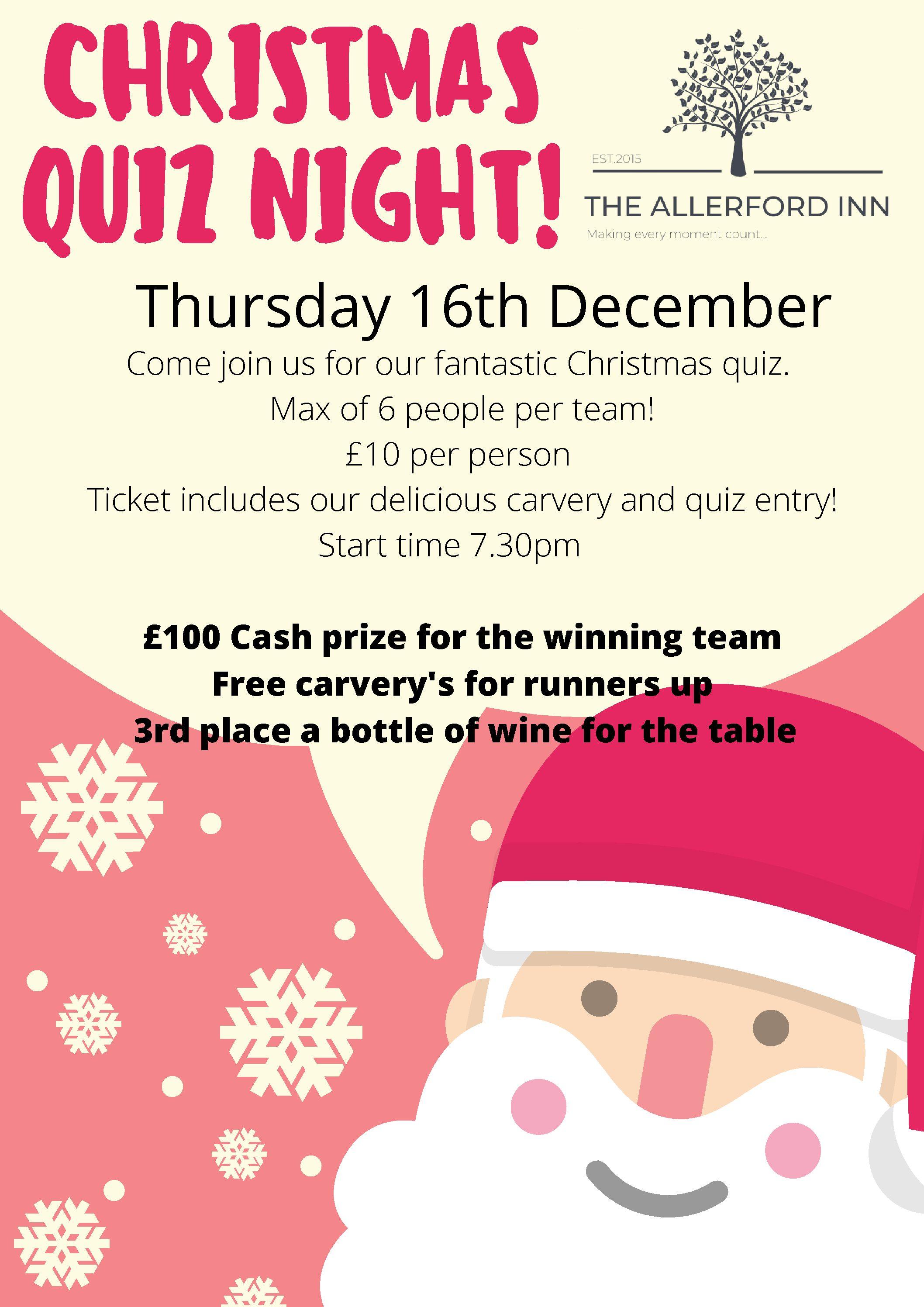 Christmas Quiz Night! 16-12-21